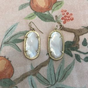 Gold and Mother of Pearl Kendra Scott Earrings